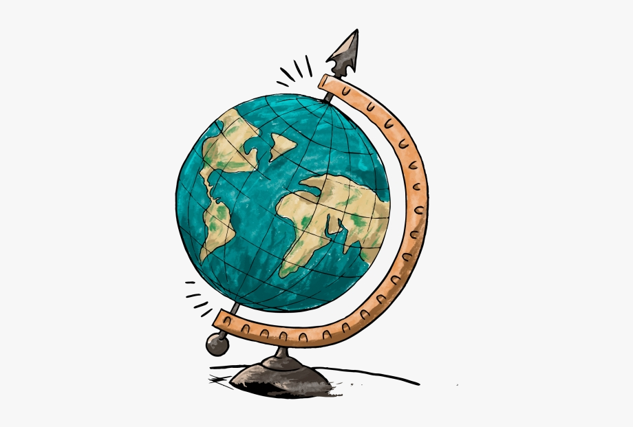 Globe Cartoon Earth Travel Architecture Clipart Image.
