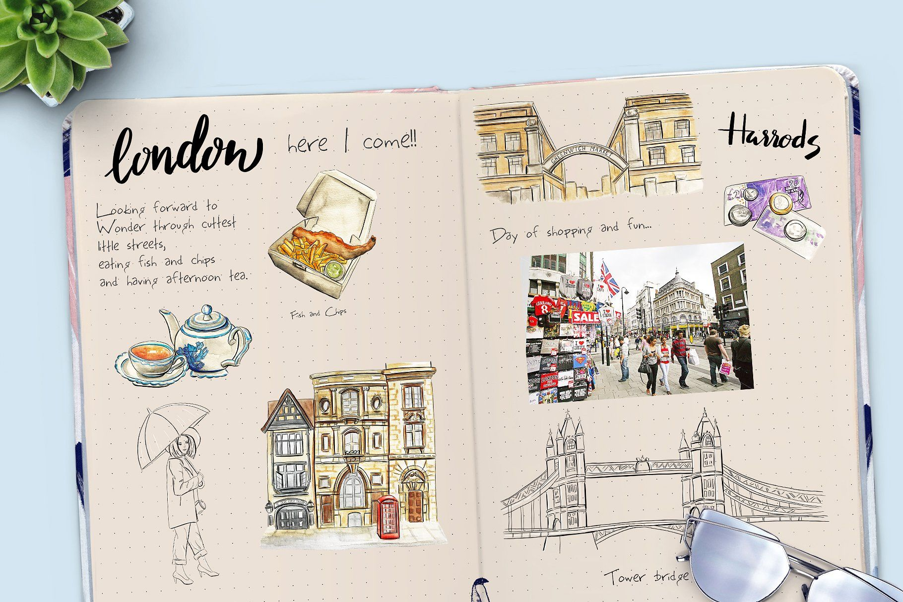 London travel clipart #scrapbooking#blog#web#digital.