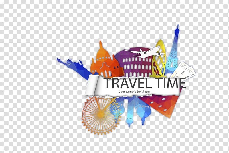 Travel Time , Creative Travel time illustrator material.