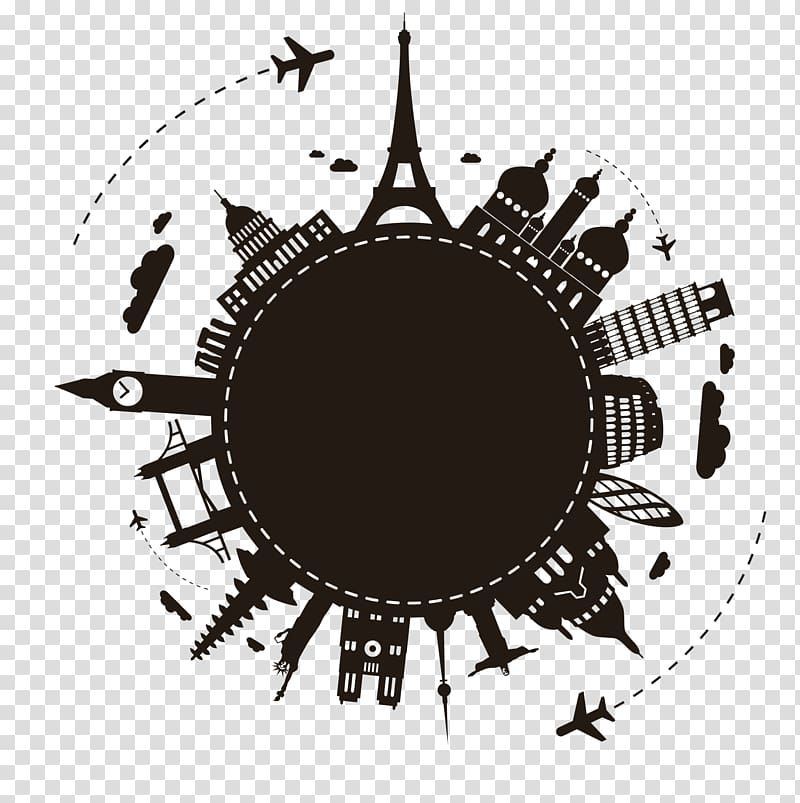 Landmarks logo, Earth Travel Illustration, World Travel.