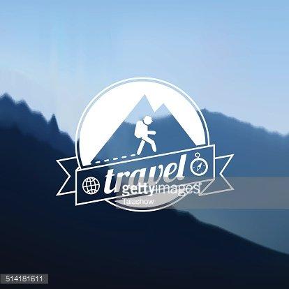 Tourism travel logo design Clipart Image.