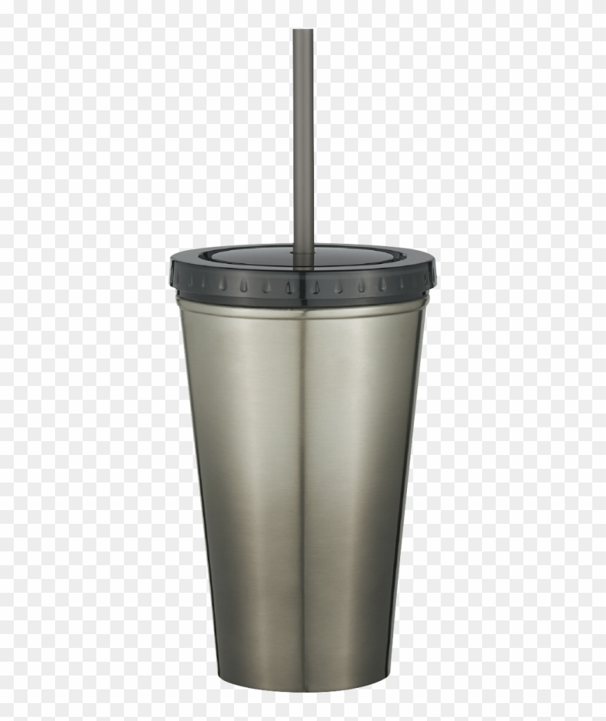 Stainless Steel Double Wall Chroma Tumbler With Straw.