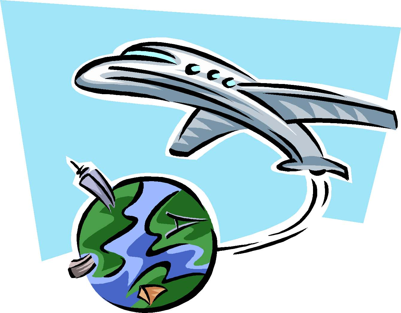 Travel Plane Clipart.