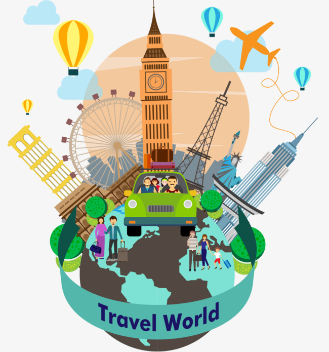 Global Travel, Travel Vector Material, A #33041.