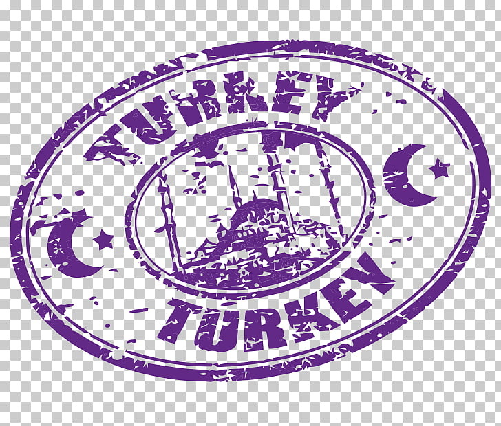 Postmark Tourism , travel stamp postmark, Turkey Turkey logo.