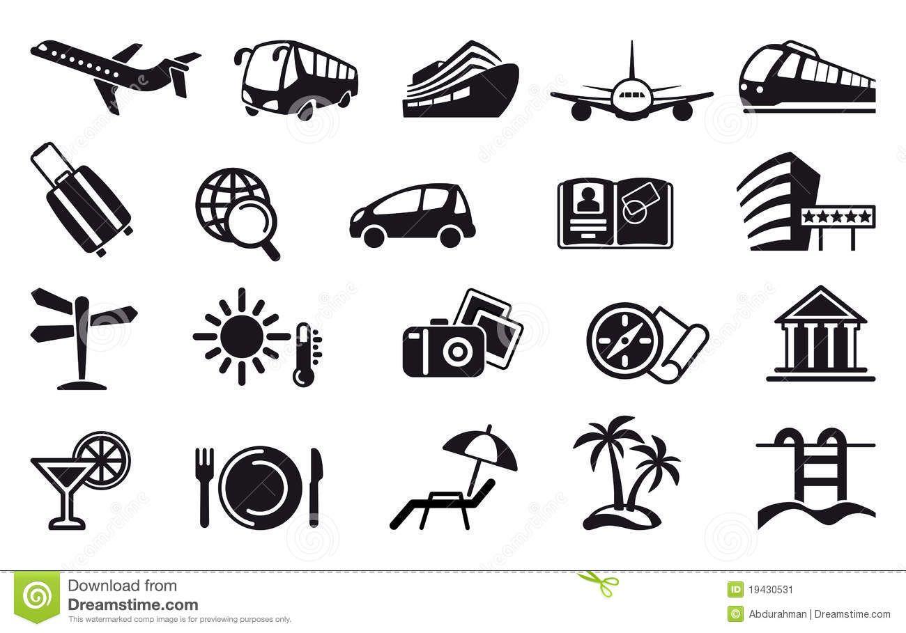 travel icons & symbols.