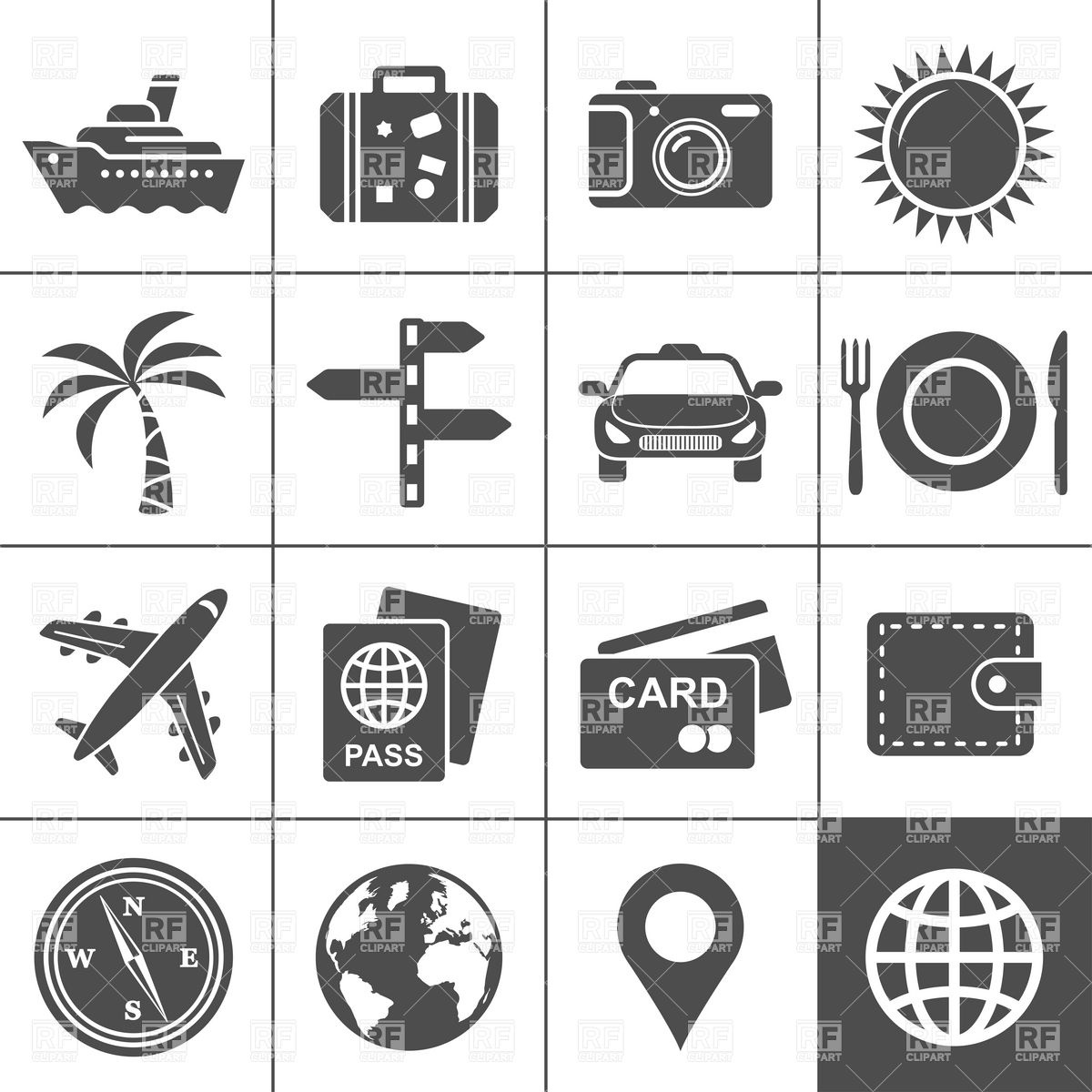 17 Icons Travel Symbols Images.