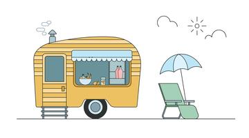 Camper Free Vector Art.
