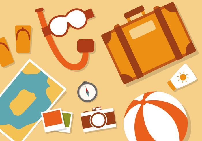 Free Flat Travel Vector Illustration.