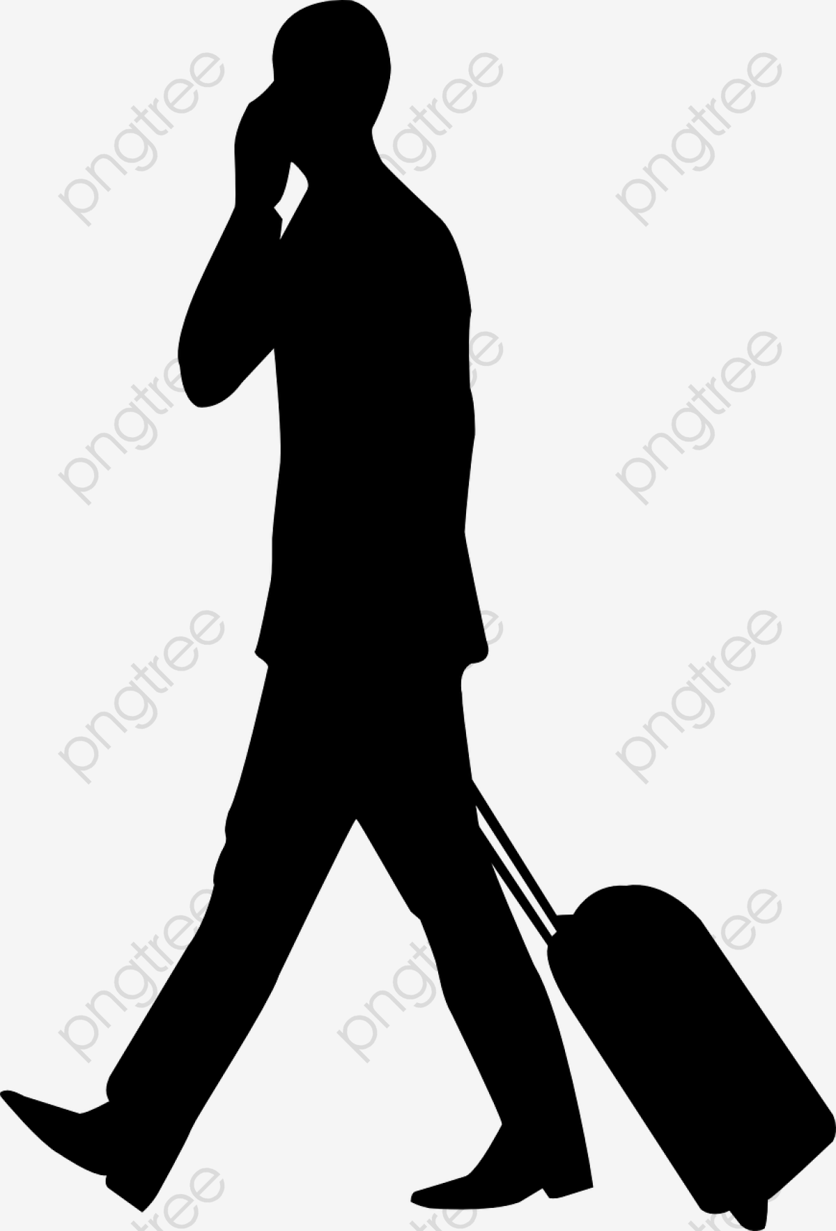 People Silhouette Travel Travelers Png Material, People.