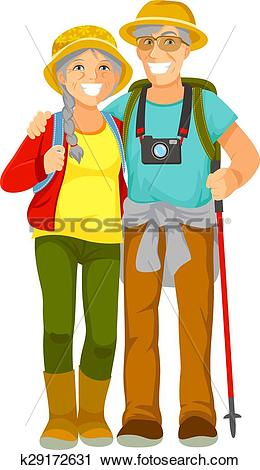 Clipart of senior travellers k29172631.