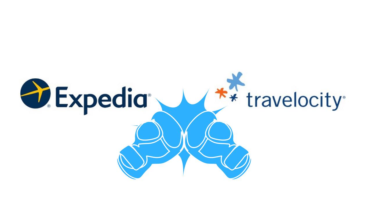 Expedia vs Travelocity.