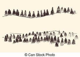 Vector Clip Art of Mountains Contours Engraving Vector Hand Draw.
