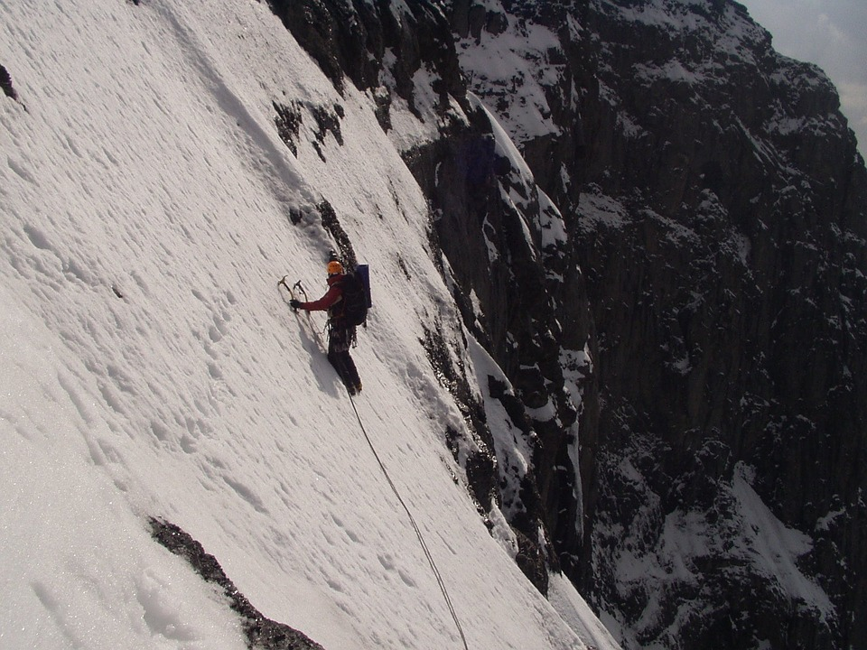 Free photo Traverse Of The Gods Climb North Wall Eiger.