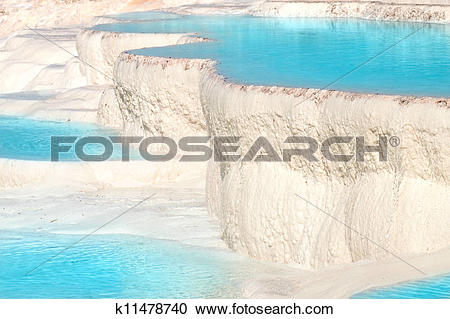 Stock Photography of Pamukkale travertine pools k11478740.