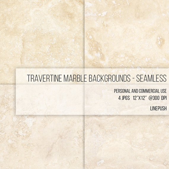 SALE Seamless Travertine Marble Texture. Digital by LinePush.