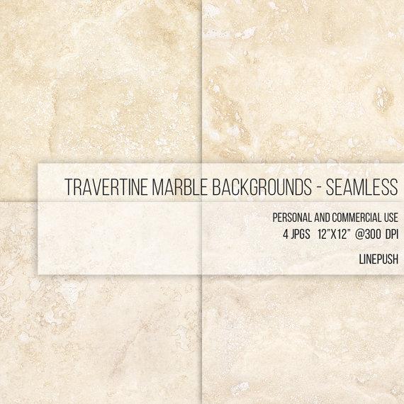 SALE Seamless Travertine Marble Texture. Digital by LinePush.