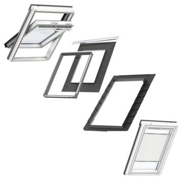 VELUX White Painted Centre Pivot MK08 Roof Window +.