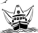Trawler, clipart Corel Xara.