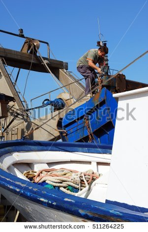 Trawler Man Stock Photos, Royalty.