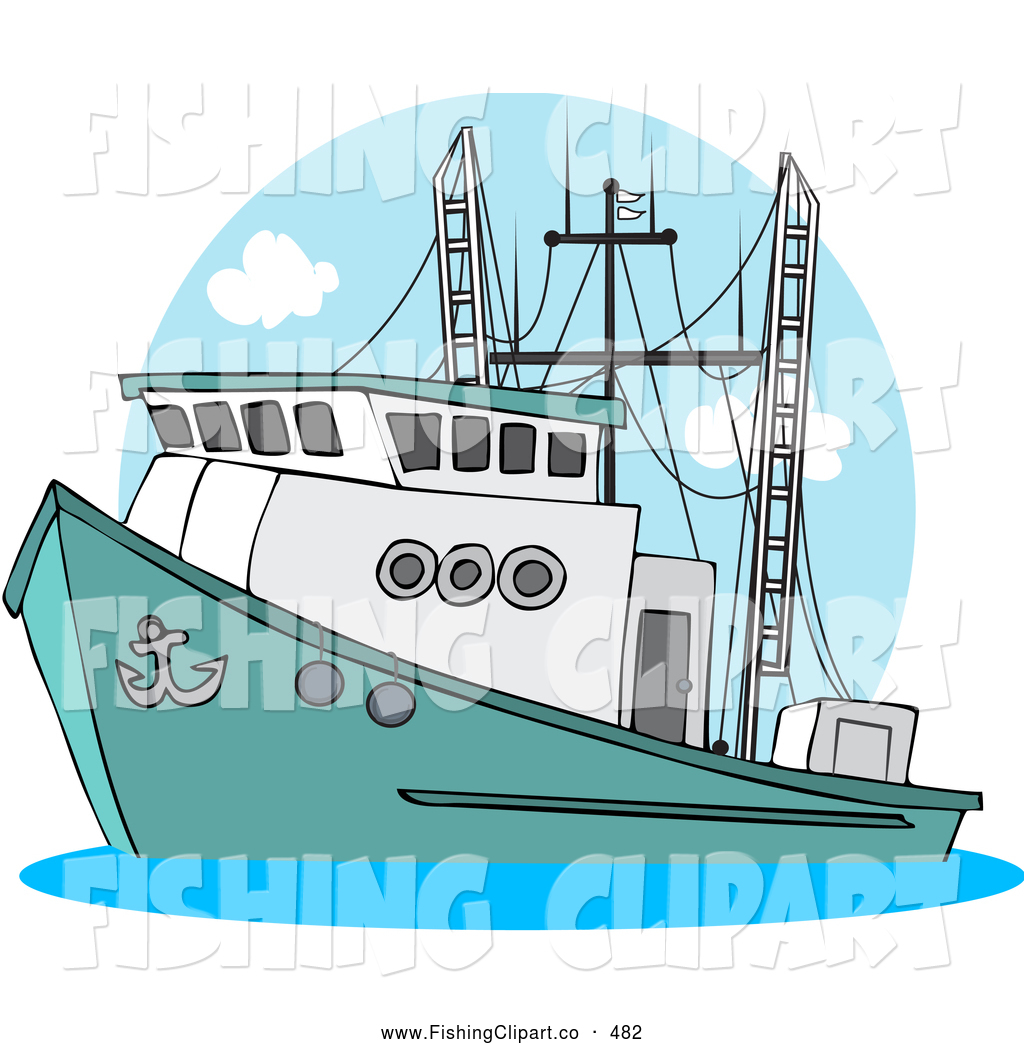 Royalty Free Stock Fishing Designs of Cartoons.