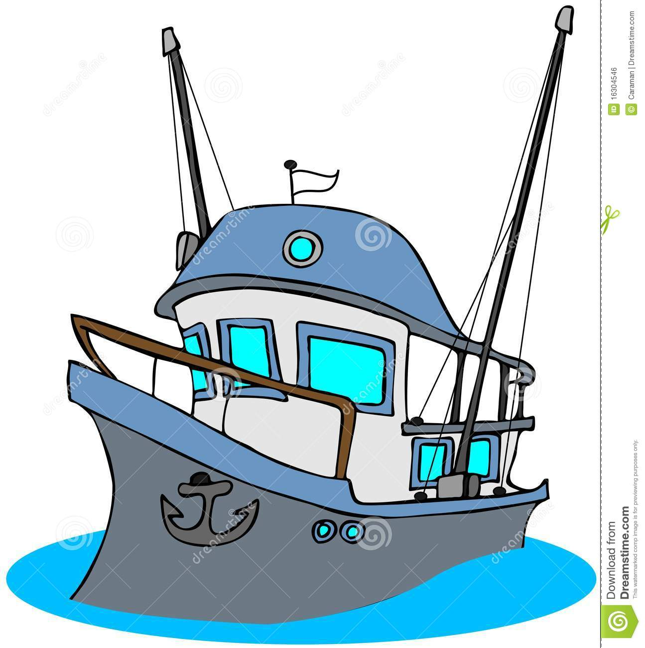Fishing Trawler Royalty Free Stock Image.