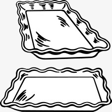 Tray clipart black and white 8 » Clipart Station.