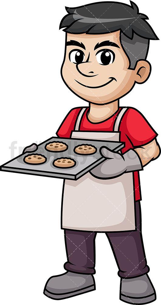 Man Baking Cookies.