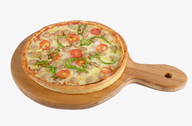 Pizza, Wooden Tray, Food PNG Transparent #389233.