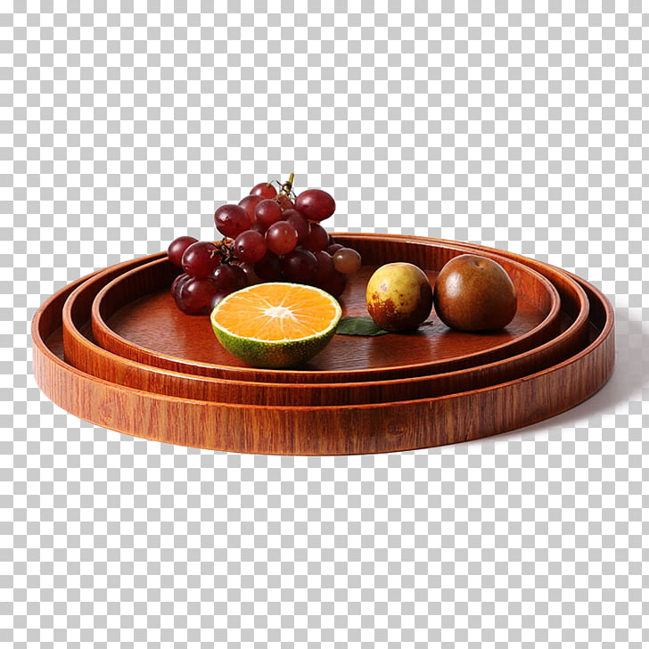 Table Tray Wood Plate, Stack of wood plates PNG clipart.