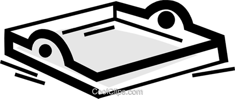 Serving Trays Royalty Free Vector Clip Art illustration.