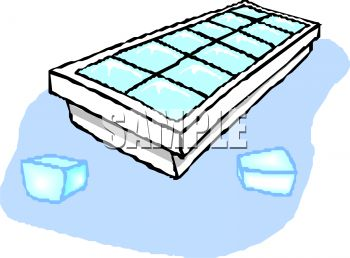 Freezer Trays With Ice Clipart.