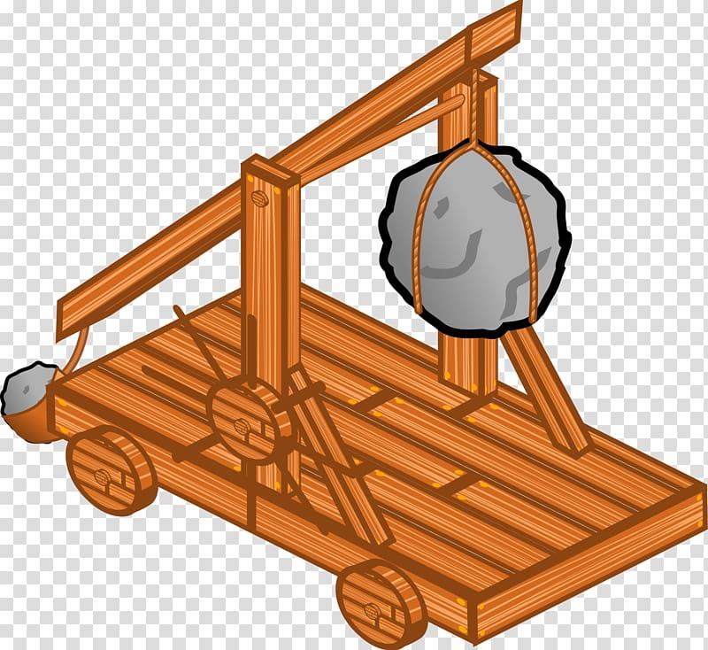 Catapult Ballista , middle ages transparent background PNG.