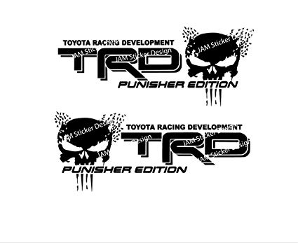 TRD Punisher Edition Vinyl Decal 6\