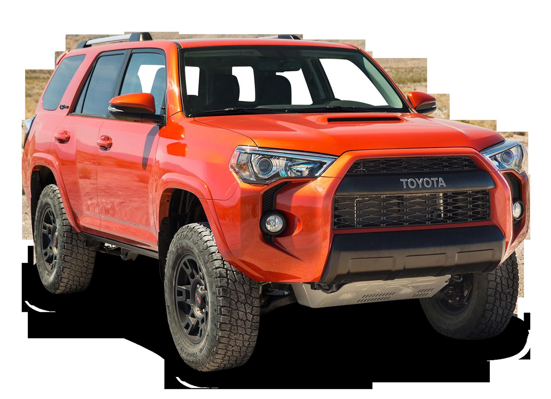 Toyota TRD Pro Orange Hill Car PNG Image.