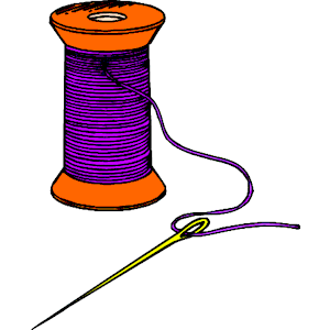 Needle and tread clipart.