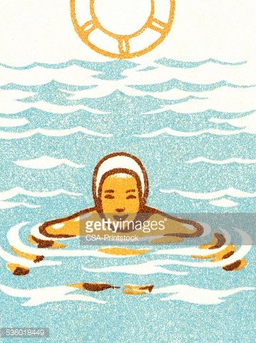 Treading water Clipart Image.