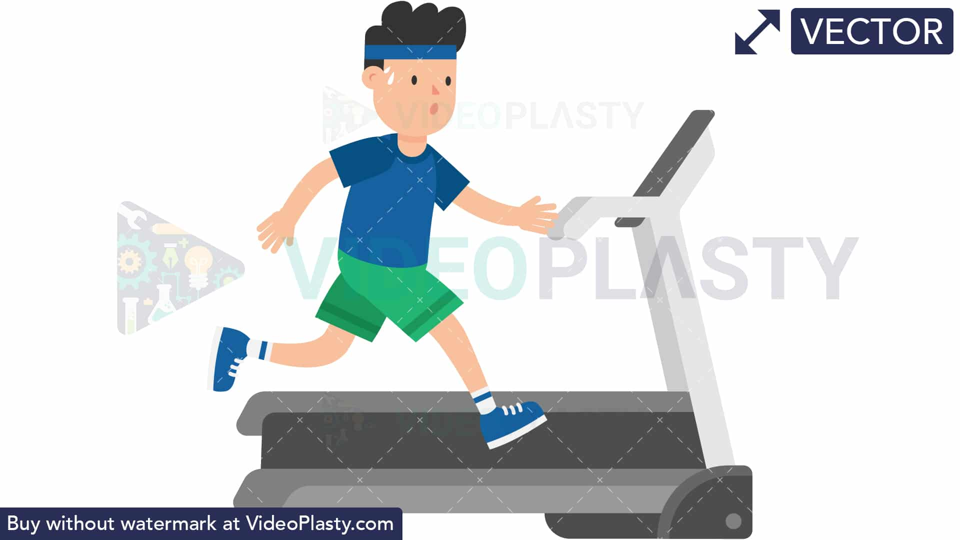 Man on a Treadmill [VECTOR].