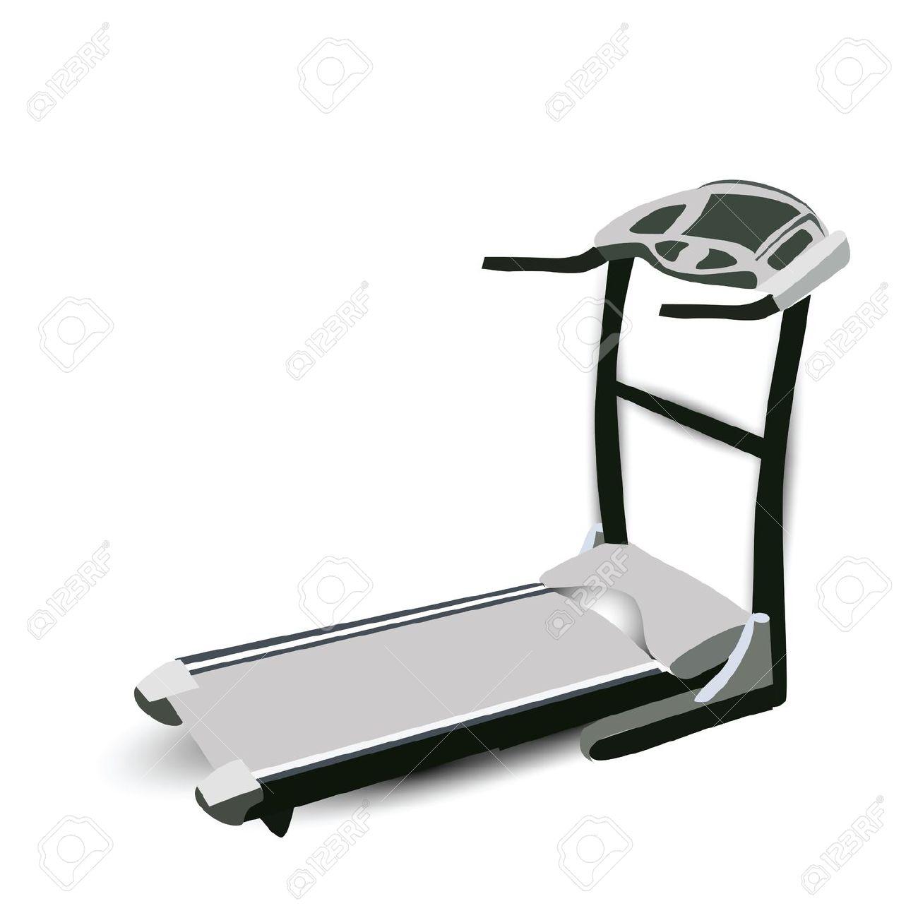 Treadmill clipart no background.