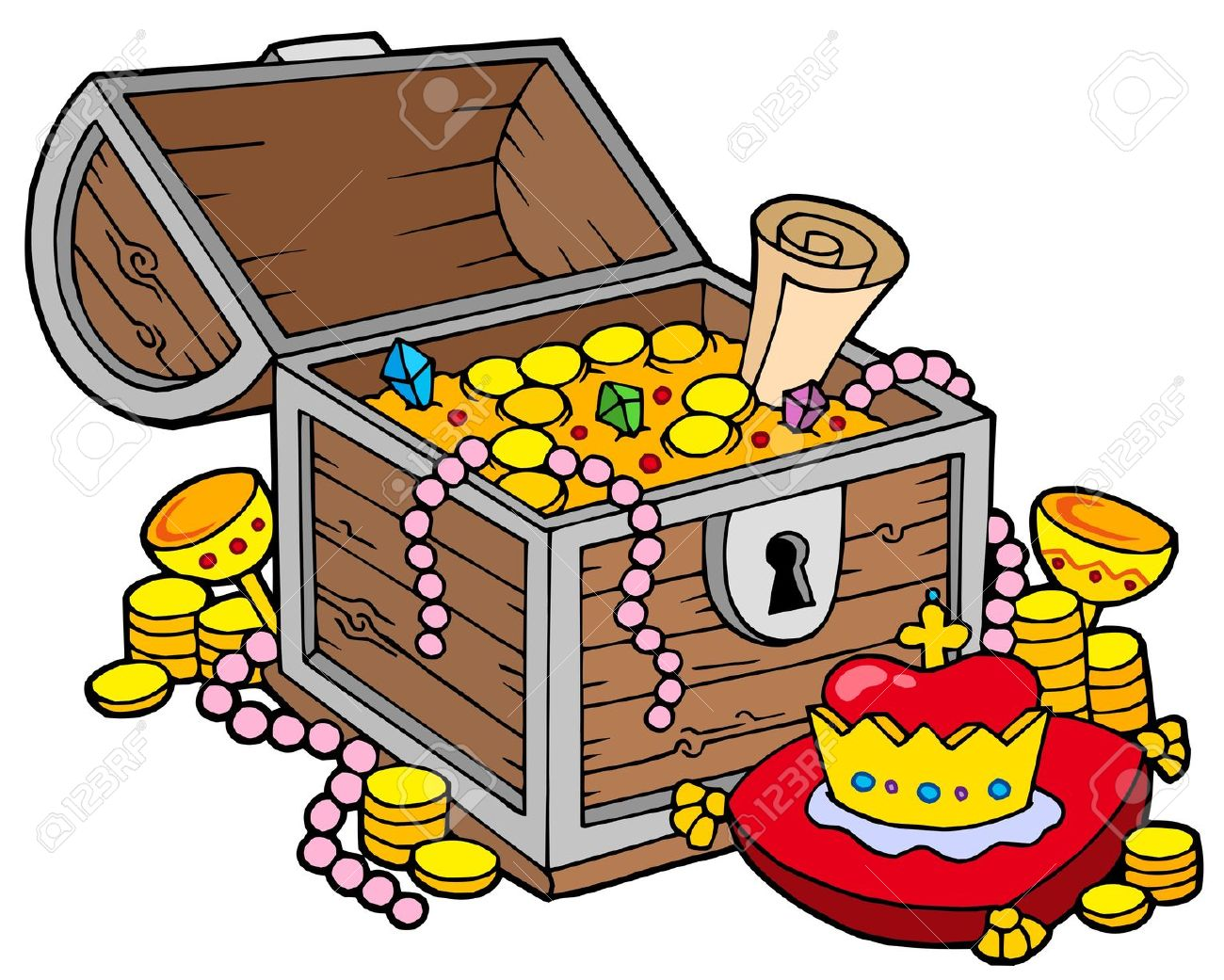 76+ Treasure Box Clip Art.