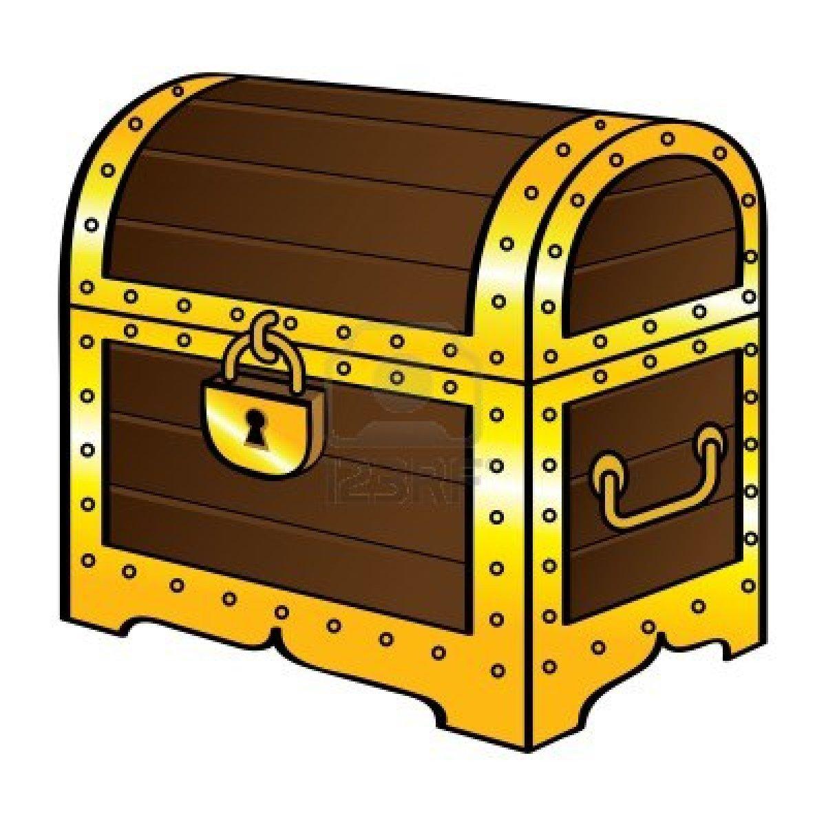 Closed Treasure Chest Clipart.
