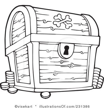 treasure chest coloring page printable.