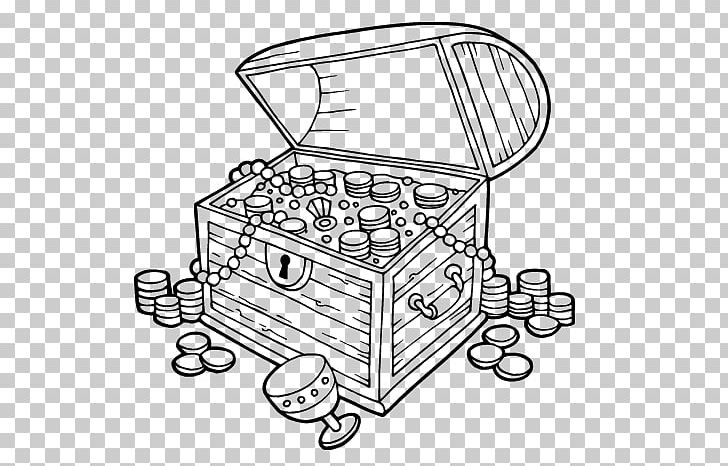 Coloring Book Buried Treasure Piracy Chest PNG, Clipart.