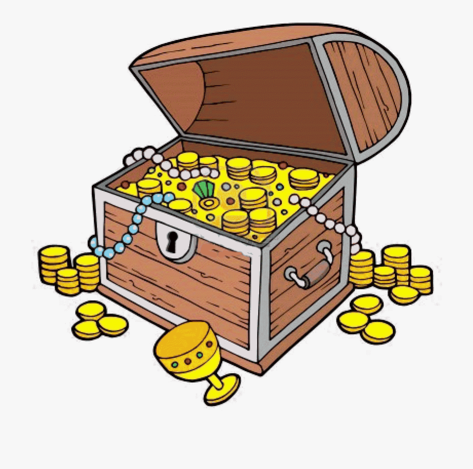 Treasure Clipart Treasure Chest Clip Art With Coins.