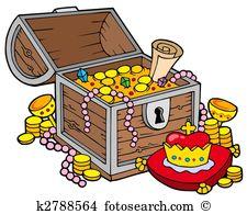 Treasure chest Clipart and Stock Illustrations. 1,352 treasure.