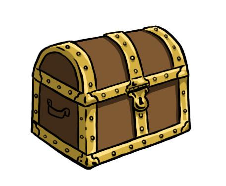 Treasure chest clipart vector treasures chest vector clip art.