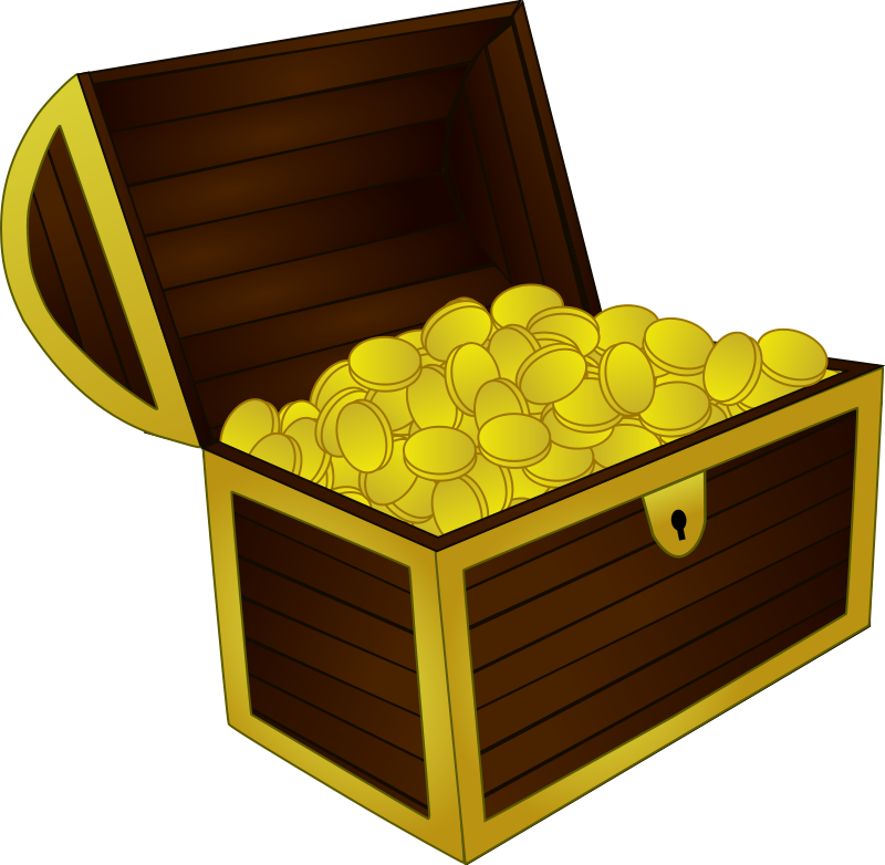 Pirate Treasure Chest Clipart.
