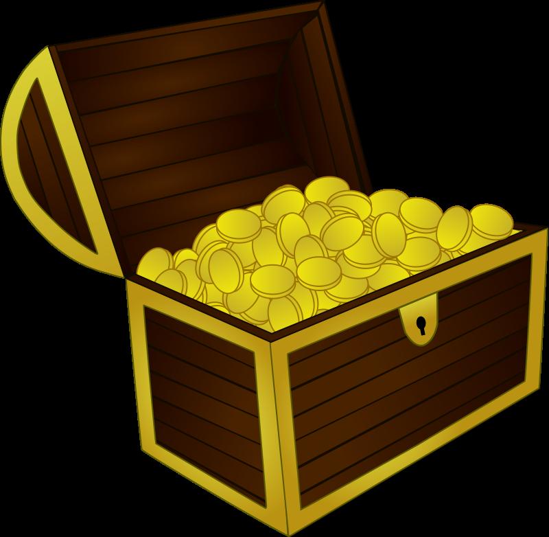 Pirate Treasure Chest Clipart.
