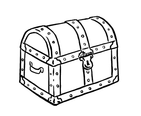 Free Treasure Chest Clipart Black And White, Download Free.