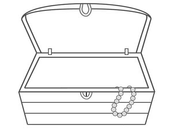 Treasure chest clipart black and white free clipground for Pirate treasure chest coloring page